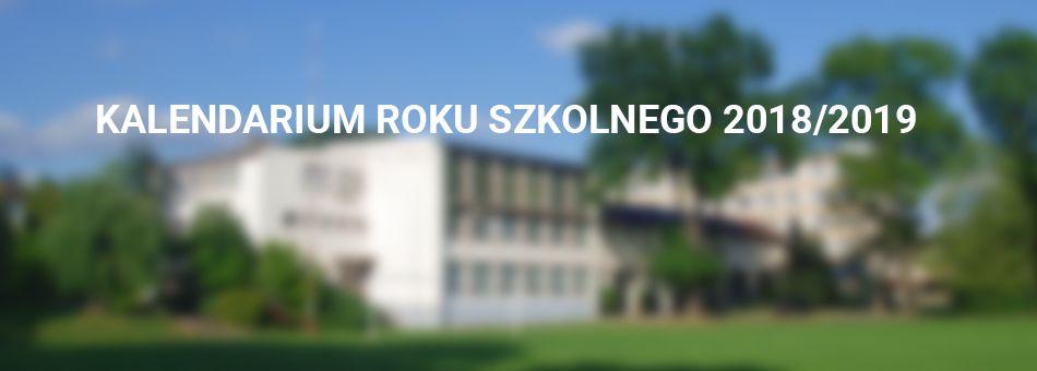 Harmonogram  organizacji roku szkolnego 2018/2019